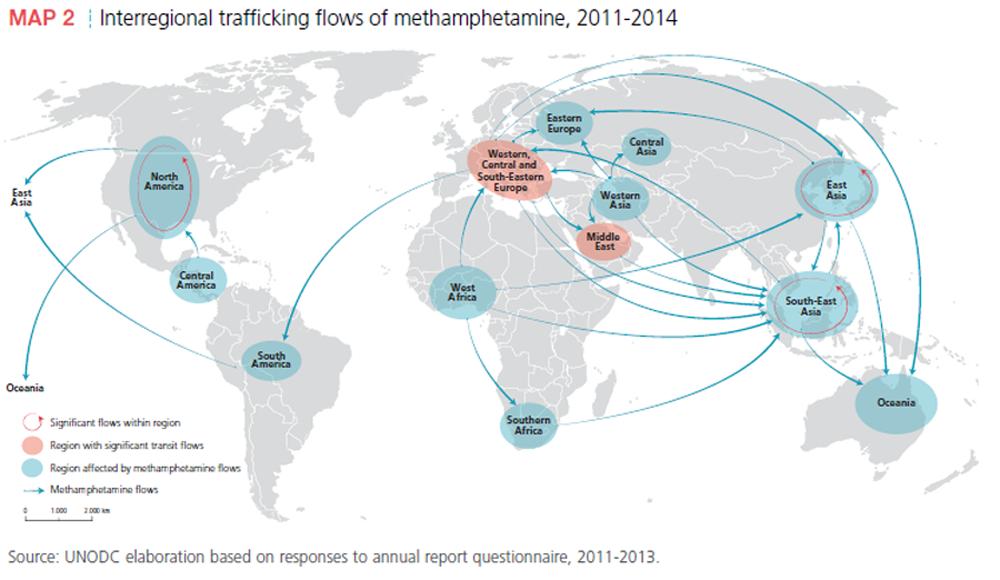 meth handel karte