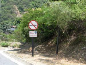 Straßenschild in Venezuela