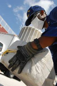 Sichergestellte Ladung Kokain aus Honduras