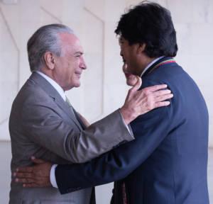 Michel Temer und Evo Morales