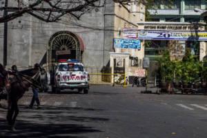 Philippinisches Polizeiauto in Vigan city