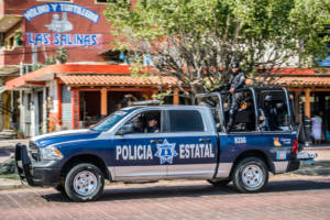 Polizisten Patrouille Mexiko