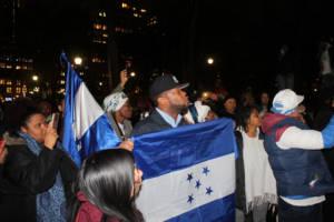 Demonstration in Honduras