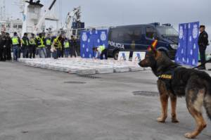 Beschlagnahmtes Kokain Spanien