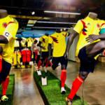 Kolumbien Fußball Trikot WM Das Heimtrikot der kolumbianischen Nationalmannschaft bei der WM in Russland. | Bild (Ausschnitt): ©  F Delventhal [CC BY 2.0]  - Flickr