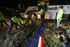 Verunglückter Bus bei Papallacta