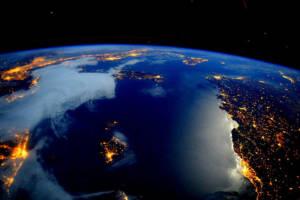 Satellitenaufnahme von der Erde